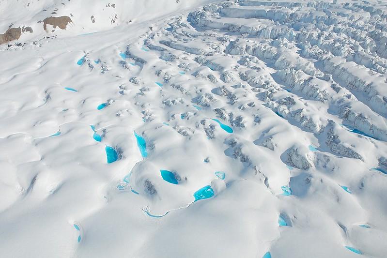 Blue Lakes on Glacier - Wrangell St. Elias National Park
