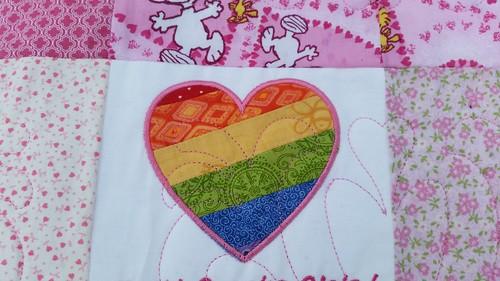 Custom quilt heart