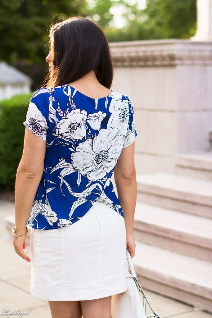 blue floral blouse, white pencil skirt-2.jpg