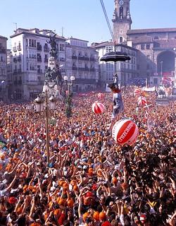Fiestas de la Blanca en Vitoria-Gasteiz.