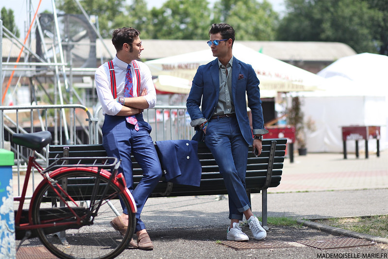 Federico Lapo Bonini and Frank Gallucci at Milan Fashion Week day 4