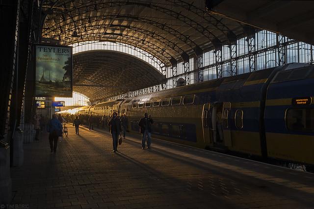 Station Haarlem, vanmorgen