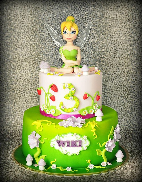 Tinkerbell Cake by Crafty Fox