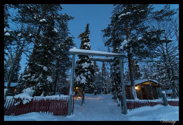 Laponia Tankavaara aurora boreal - Cabañas del Tankavaara Gold Village