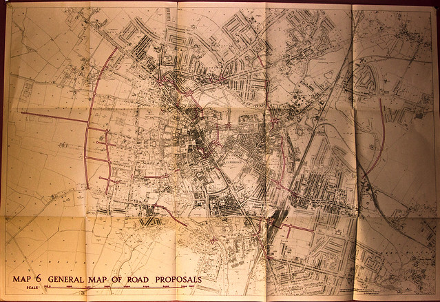 Cambridge Map of Roads Holford 1950 HiRes