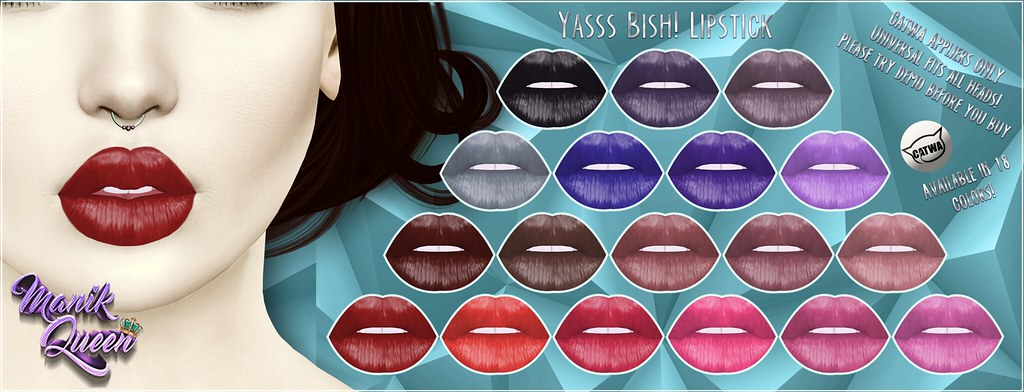 MANIK QUEEN - YASS BISH! Lipstick - SecondLifeHub.com