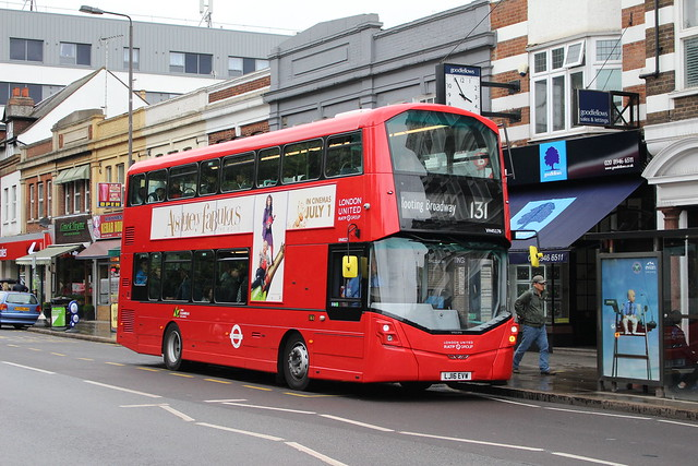 London United VH45176 on Route 131, Raynes Park Station