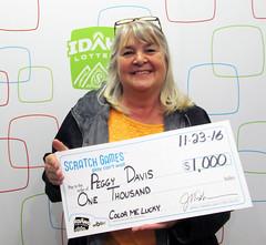 Peggy Davis - $1,000 Color Me Lucky