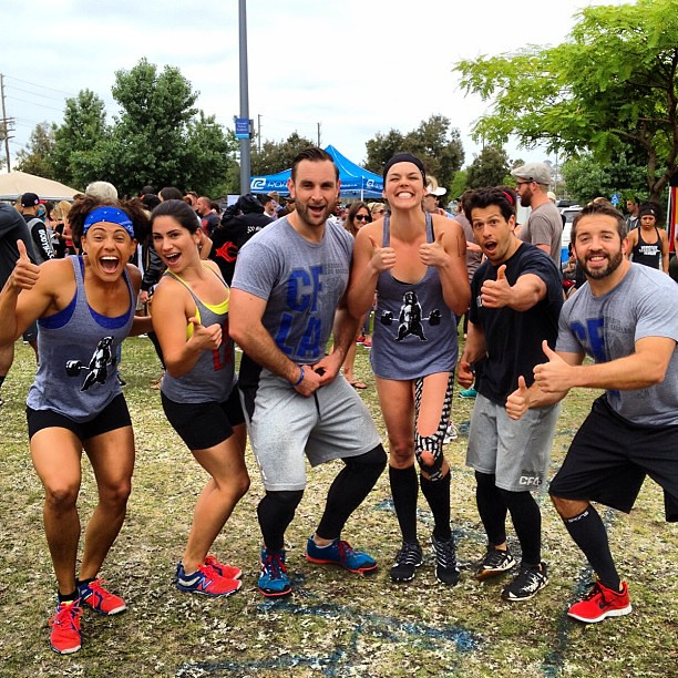 I love our team ! #teamcfla #porttownthrowdown #weworkout #crossfit