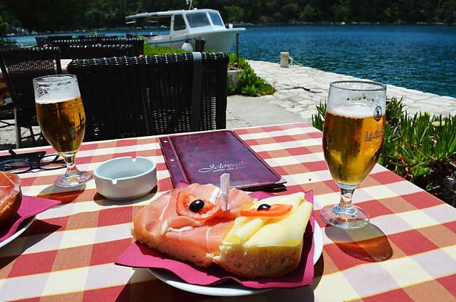 Mljet National Park, Croatia, SV Marija on Lake Veliko Jezera