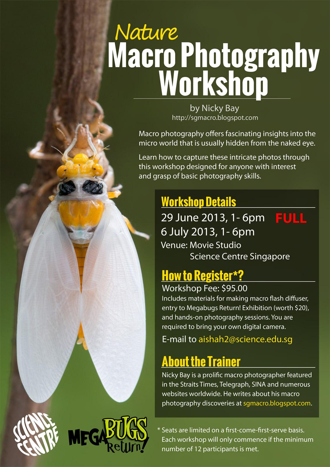 Nature Macro Photography Workshop Science Centre Singapore