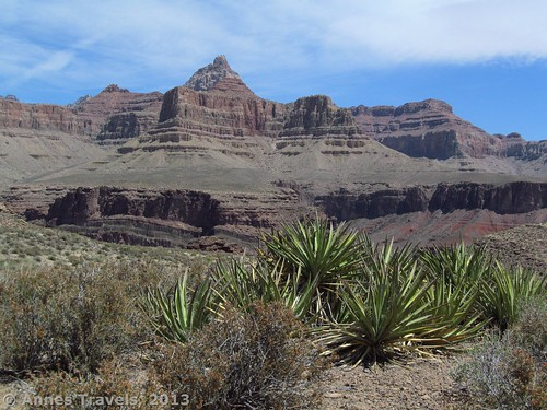 On the Tonto Trail below Horseshoe Mesa, Grand Canyon National Park in Arizona