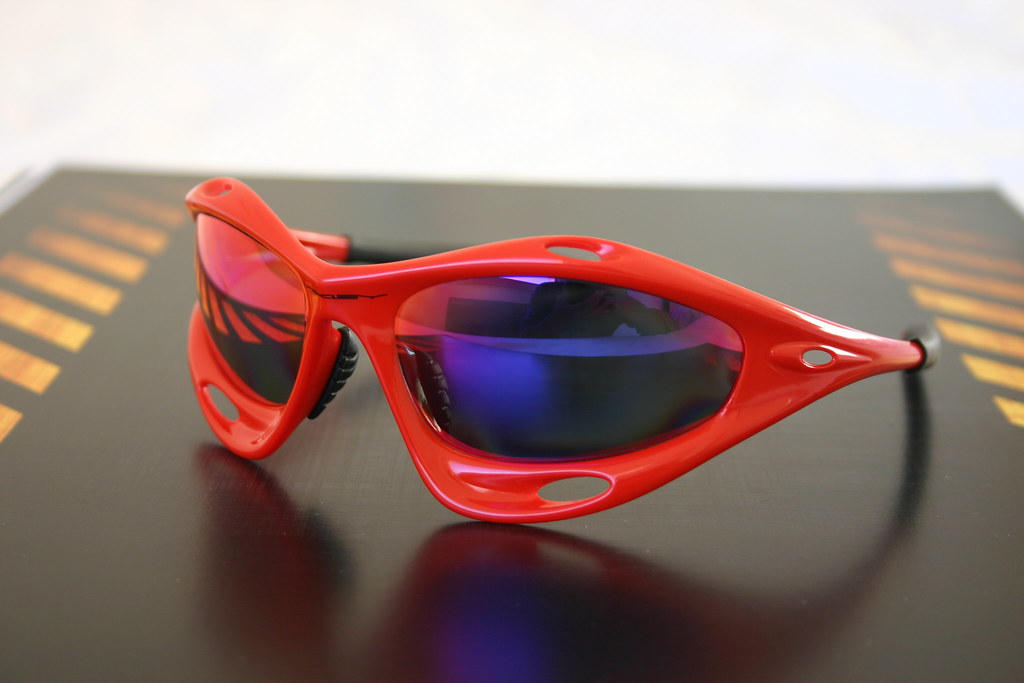 8d7ac89ca3 ... Oakley red Racing jacket + OO red polarized (custom cut)