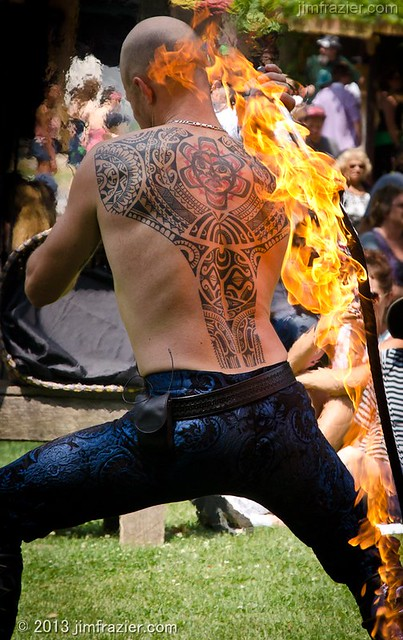 Firewhip Guy and Tattoo