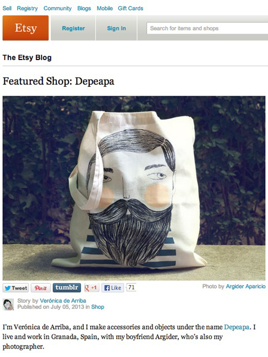 Depeapa featured shop on Etsy