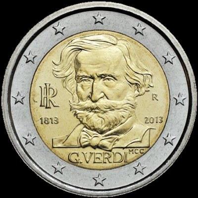 2 Euro Taliansko 2013, Giuseppe Verdi