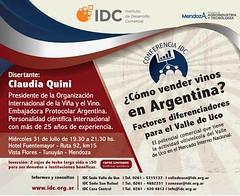 Conferencia Solidaria: ¿Cómo vender vino en Argentina?