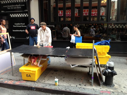 Breaking down a table, Midtown