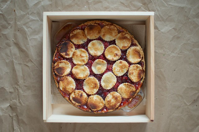 cherry pie in pie box