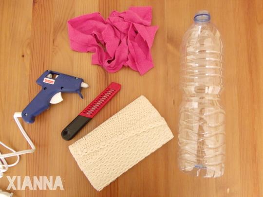 Plastic bottle stuff / Materiales pulsera con botella de plástico