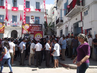 UGTT union office in the Tunis Medina, July 26, 2013. Photo credit: Robert Joyce, Tunisia Live