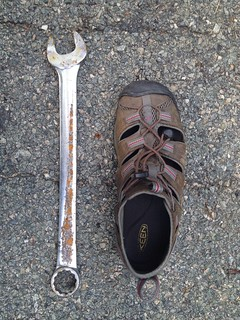 "Roadside find of the day...a Snapon 1  1/4"" wrench..."