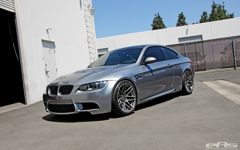 A Space Gray E92 M3 On Ultra Deep Concave F14 Wheels