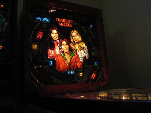Charlie's Angels pinball backglass