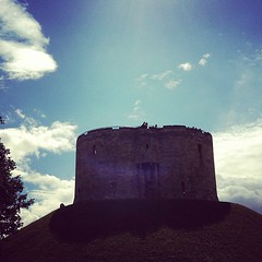 Clifford's tower on a lovely sunny Sunday morning