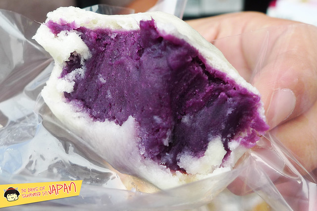 Kawagoe - steamed purple sweet potato bun
