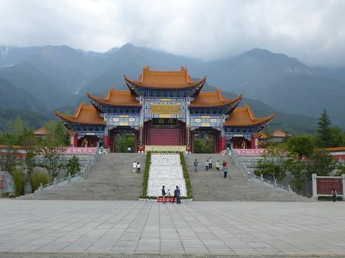 Yunnan13-Dali-4. Place du Temple (3)