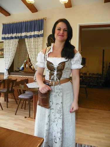 Cute Dinner Fraulein in Traditional Dress