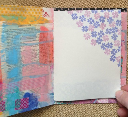 Small Art Journal Series with Inside pages stamped