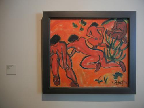 DSCN7881 _ Badende (Bathers), 1913, Karl Schmidt-Rottluff (1884-1976), LACMA