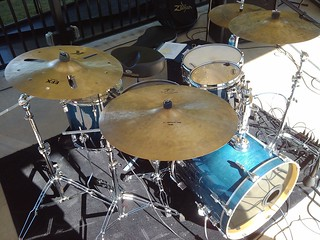 Sonor Blue Fade Kit Zildjian K Cymbals