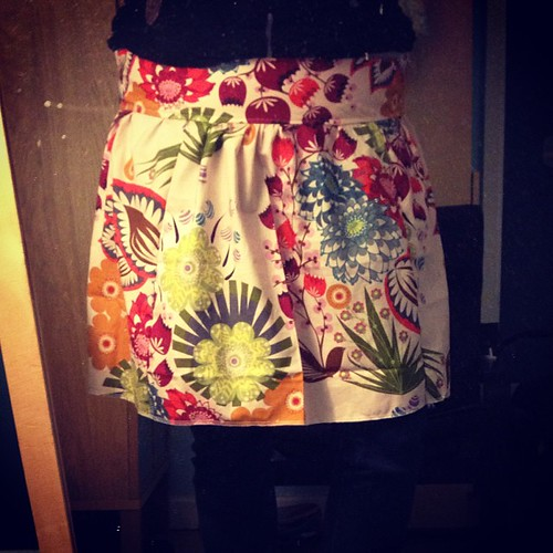 Unpressed and haven't sewn a hem yet but LOOK! I made a SKIRT! #itsbeenawhile #selfishsewing #loulouthi
