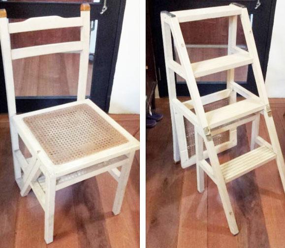 vintage chair ladder
