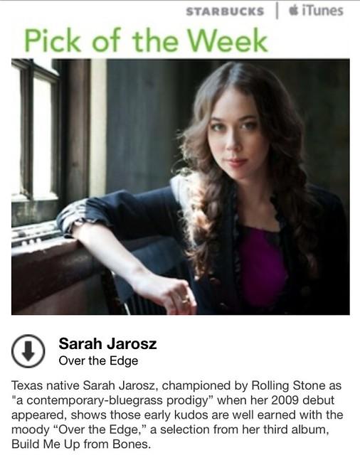Starbucks iTunes Pick of the Week - Sarah Jarosz - Over the Edge