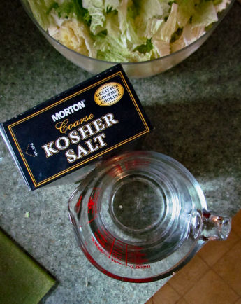 Salt Water Brine for Kimchi