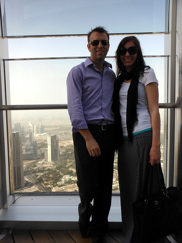 Atop Burj Khalifa in Duba, UAE