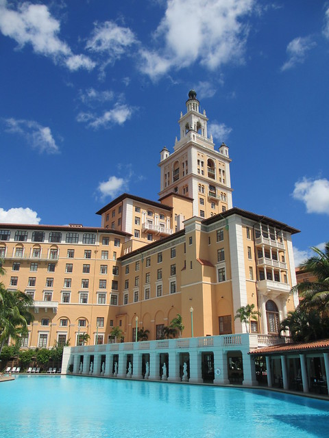 Biltmore hotel from the pool coral gables florida for Pool show coral gables