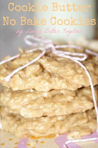Cookie Butter No-Bake Cookies