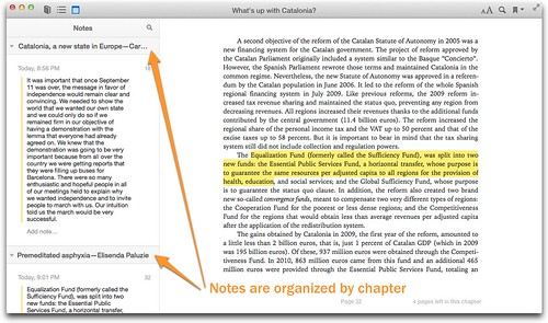 iBooks notes