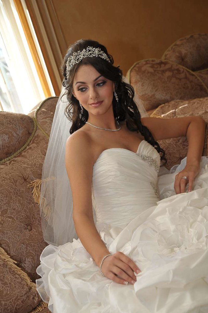 Siana wearing a crystal headband by Bridal Styles Boutique