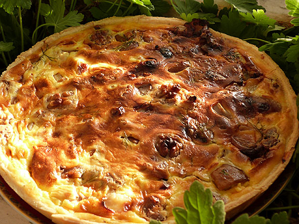tarte poire, noix et gorgonzola