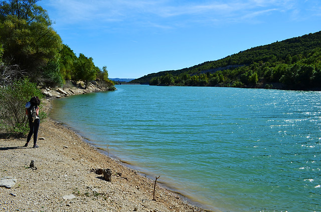 Reservoir lake, Forcalquier, Provence, France