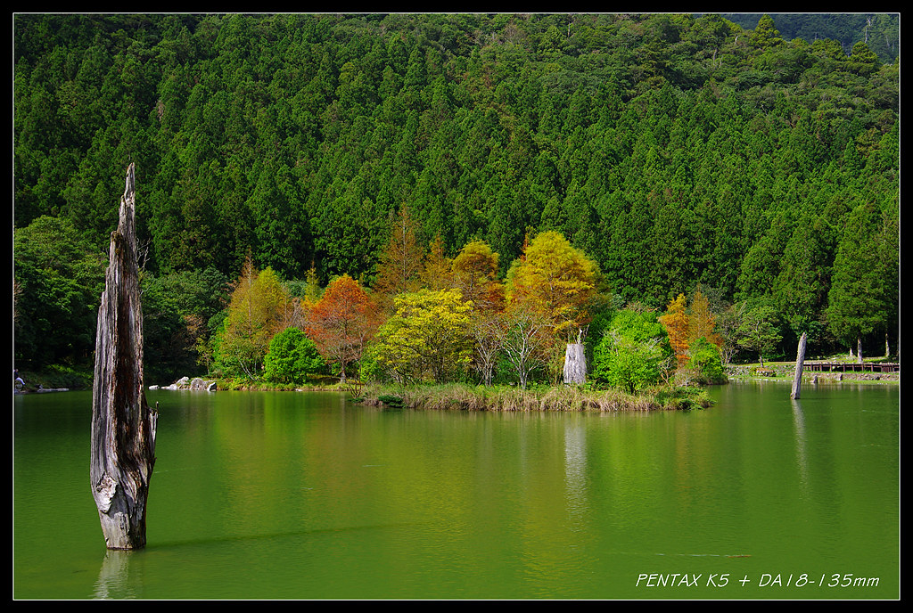 明池湖, 正繽紛, 五顏六色景迷人!