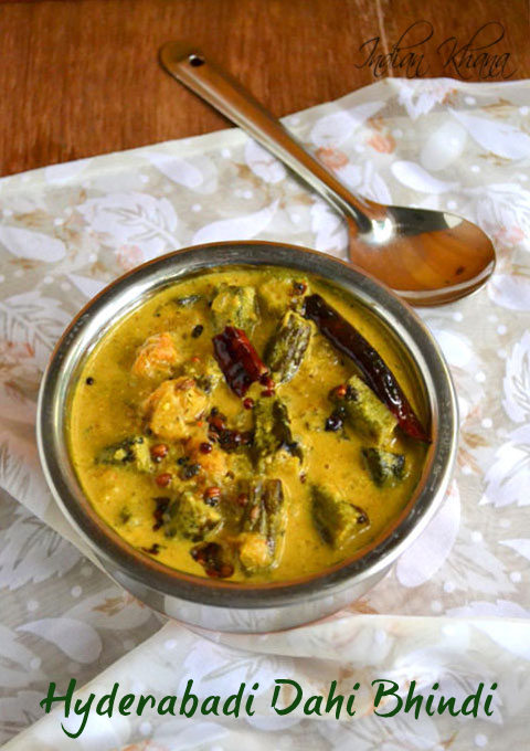 Hyderabadi Dahi Bhindi Dahi Bhindi Masala Okra Recipes Indian Khana