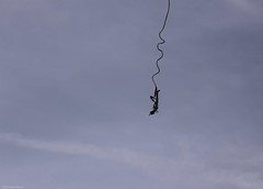 adventure, bungee jumping, extreme sport, person, sky,