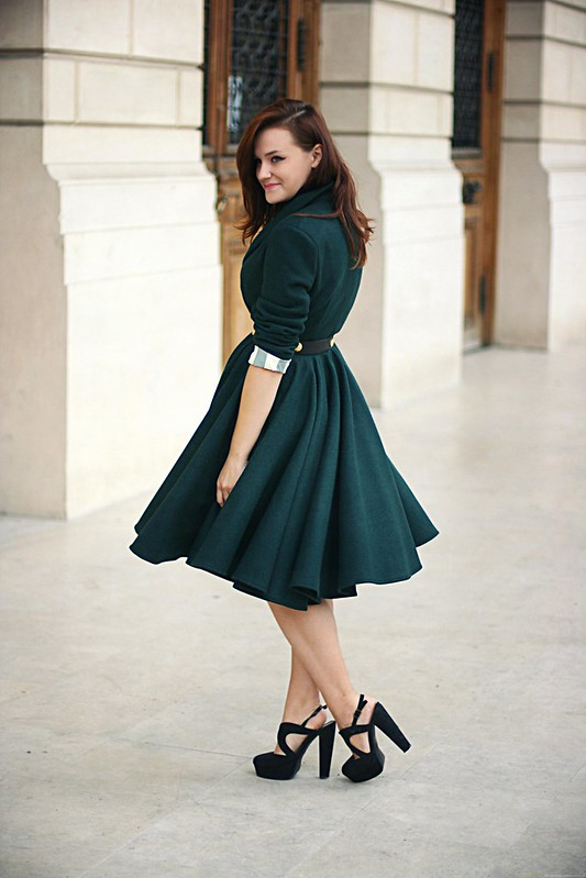 emerald green coat 2